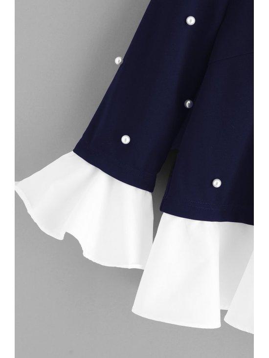 Blusa bardot floral - Azul